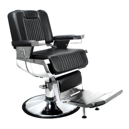 Super Luniz Professional Reclining Barber Chair W Flushed Headrest Bc 31Blk Lamtechconsult Wood Chair Design Ideas Lamtechconsultcom