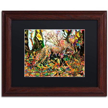 Trademark Fine Art  Mozilla S Fox  Canvas Art By Josh Byer  Black Matte  Wood Frame
