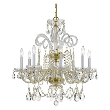 Crystorama Traditional Crystal 5008-PB-CL-MWP Chandelier ()