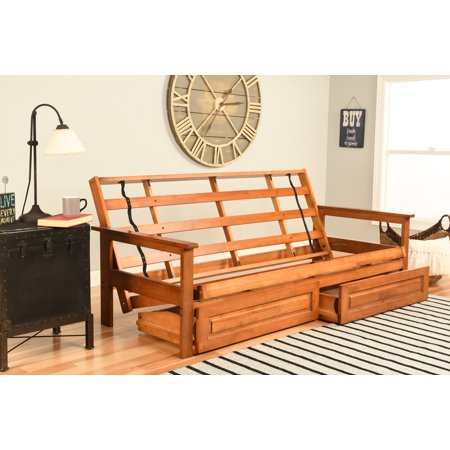 Image of Albany Futon with storage in Barbados Finish