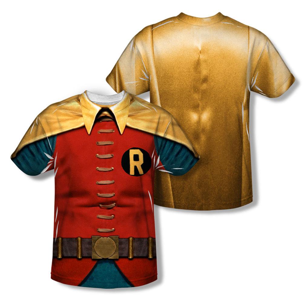 Batman Men's  Robin Costume  Sublimation T-shirt White