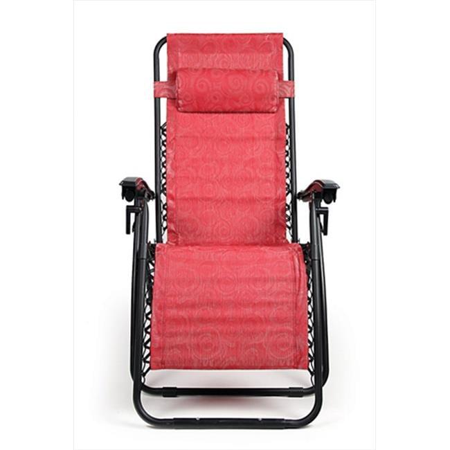 Camco 51813 Zero Gravity Chair, Red Swirl