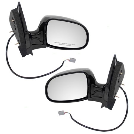 Pair Set Power Side View Mirrors Replacement for Ford Windstar Van YF2Z 17683 BA YF2Z 17682 - Ford Windstar Mirror Lh Driver