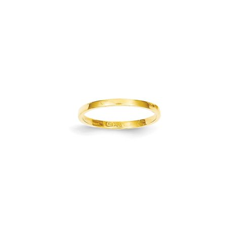 14k Yellow Gold Wedding Ring Band Childs Size 3.00 Baby Gifts For Women For Her