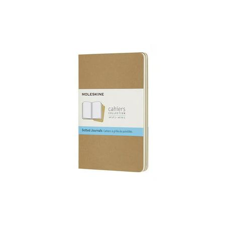 Moleskine Cahier Journal, Pocket, Dotted, Kraft Brown (3.5 X 5.5) (Cahier Plain Journal Set)
