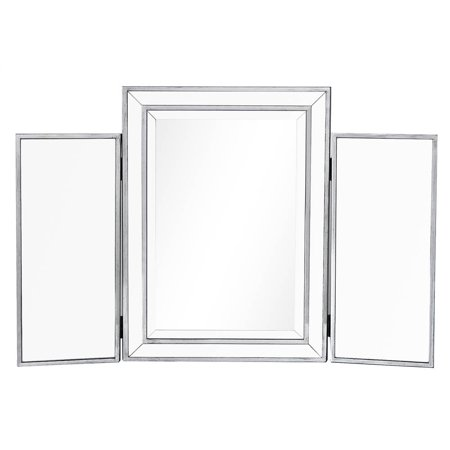 elegant decor mf72005 antique hand painted silver trifold mirror - 36 x 24 (Antique Hand Mirror)