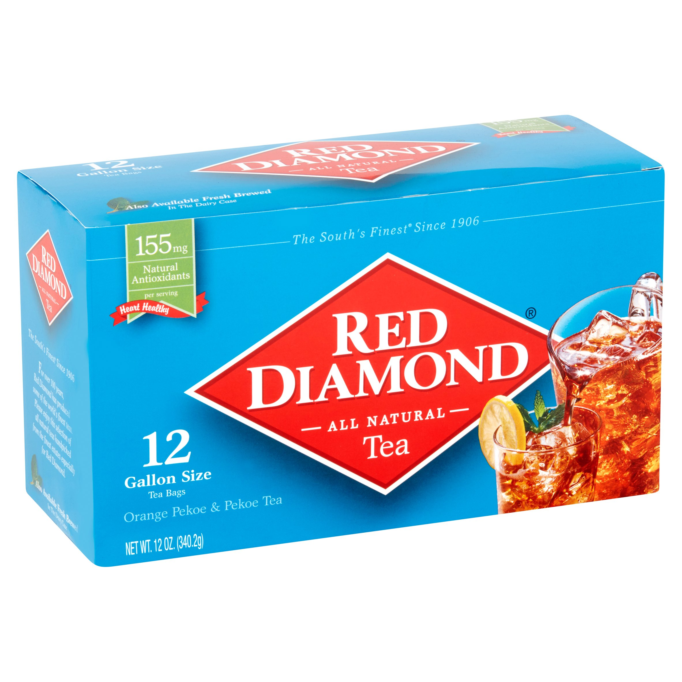 Red Diamond Orange Pekoe Gallon Size Tea Bags 12 Count Oz Com