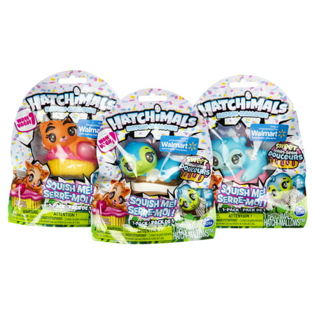 Hatchimals HatchiMallows, Soft, Squishy Hatchimals, Sweet Series, Exclusively Available at Walmart, for Ages 5 and Up (Styles May Vary)