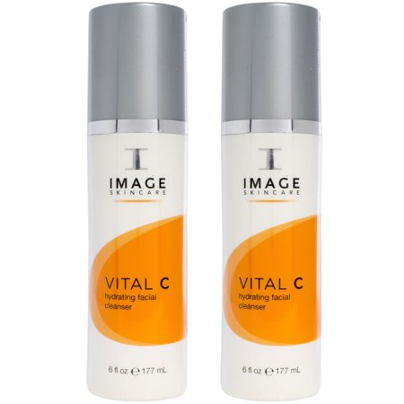Derma E Hydrating Cleanser (Image Skincare Vital C Hydrating Facial Cleanser 6 oz - Pack of 2)