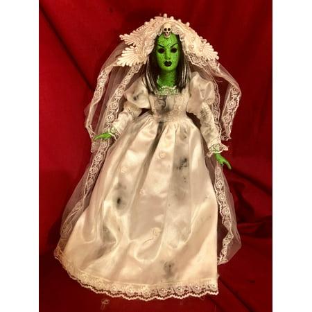 OOAK High Priestess Witch Creepy Horror Doll Art by Christie - Creepy Doll Makeup