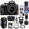 Nikon D3300 Digital SLR Camera & 18-55mm G VR DX II AF-S Zoom Lens (Black) with 70-300mm Lens + 32GB Card + Battery + Case + Filters + Flash + Tripod + Accessory Kit Nikon D3300 Digital SLR Camera<br> + 18-55mm VR II Lens Outfit <br>Creating beautiful photos and videos has never been more fun. Life is full of surprising, joyful moments -- moments worth remembering. The <b>Nikon D3300 Digital SLR</b> makes it fun and easy to preserve those moments in the lifelike beauty they deserve: stunning <b>24.2-megapixel photos</b> and <b>1080p Full HD videos</b> with tack-sharp details, vibrant colors and softly blurred backgrounds. Like sharing photos? The D3300 photos can appear instantly on your compatible smartphone or tablet for easy sharing with the <b>optional WU-1a Wireless Adapter</b>! Whether youre creating high-resolution panoramas, adding artistic special effects or recording HD video with sound, the D3300 will bring you endless joy, excitement and memories -- just like the special moments of your life. This camera outfit includes the versatile <b>AF-S DX NIKKOR 18-55mm f/3.5-5.6G VR II</b> lens which delivers the sharpest, most color-rich results imaginable. Optimized for Nikons new high-resolution DX-format image sensors, it borrows the ultra-compact retractable lens barrel design from the Nikon 1 system. Nikons remarkable <b>Vibration Reduction</b> technology provides 4 stops of blur-free handheld shooting -- enjoy crisp, clear images even if your hands are a bit unsteady and shoot at slower shutter speeds in low-light situations. <br><br><b>Key Features:</b><br> <b>Create stunning lifelike photos and HD videos</b><br> Taking snapshots with a smartphone is convenient, but are those photos good enough for preserving precious moments? The D3300s new EXPEED 4 lets you shoot at high speeds up to 5 frames per second, shoot in low light with high ISO sensitivity, create high-resolution panoramas and much more. Your 24.2-megapixel photos and 1080p Full HD videos will be so impressive, so rich with detail+ and color -- so lifelike -- theyll bring back the feelings of the moments they capture. <b>Compact, lightweight and reliable</b><br> The D3300 is a small and light HD-SLR camera even when paired with the included AF-S DX NIKKOR 18-55mm f/3.5-5.6G VR II lens, which has a new ultra-compact design. The combination is designed to fit comfortably in your hands, and all of the D3300s buttons and dials are positioned for convenient, efficient operation. Youll take the D3300 everywhere you go, which means youll bring home all the beautiful memories of your activities. <b>Focus on the details</b><br> The D3300s 11-point Autofocus System locks onto your subjects as soon as they enter the frame and stays with them until you catch the shot you want. Even fast-moving subjects are captured with tack-sharp precision. And when youre recording Full HD video, Full-time Autofocus keeps the focus where you want it. <b>Spectacular panoramas, Guide Mode and fun Special Effects</b><br> Using the D3300 is super easy -- and a blast. Cant get the whole scene into your frame? Turn on Easy Panorama Mode and pan across the scene -- the D3300 will capture the entire view as a high-resolution panoramic image. Its that easy! Guide Mode gives step-by-step help when you need it (its like having an expert at your side), and you can easily get creative with built-in Image Effects, filters and more. <b>Enjoy the view</b><br> Like all D-SLR cameras, the D3300 has an optical viewfinder that gives you a true view through the lens of the camera -- and what a view it is! If youve been using a point-and-shoot camera, youll find it easier to frame your shots, follow moving subjects, zoom in on bright sunny days and more. <b>Catch every moment</b><br> When the action starts, hold down the shutter button to capture every movement, expression and feeling at 5 frames per second -- thats 5 beautiful photos for every second of action! You wont believe some ot 5 frames per second -- thats 5 beautiful photos for every second of action! You wont believe some of the moments youll catch thanks to Nikons new high-speed EXPEED 4 processing engine.