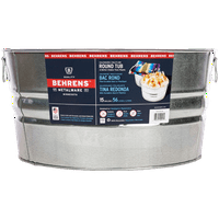 Behrens 15-Gallon Galvanized Steel Round Tub