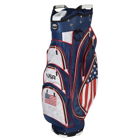 Hot Z Golf 2018 USA Cart Bag (Red/White/Blue) NEW