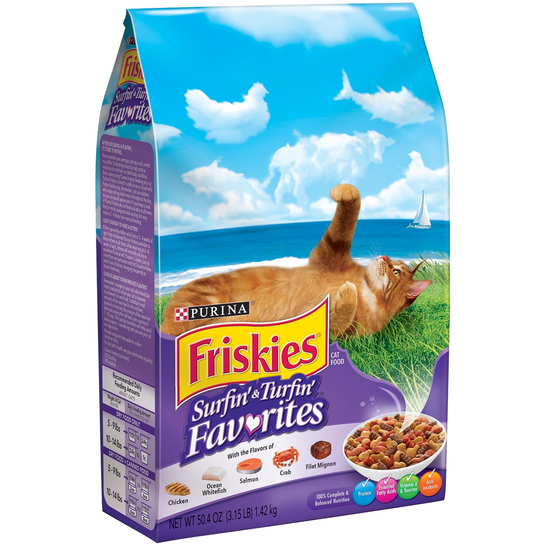 Nestl Purina PetCare Company Purina Friskies Feline Favorites Cat Food, 3.15 lb