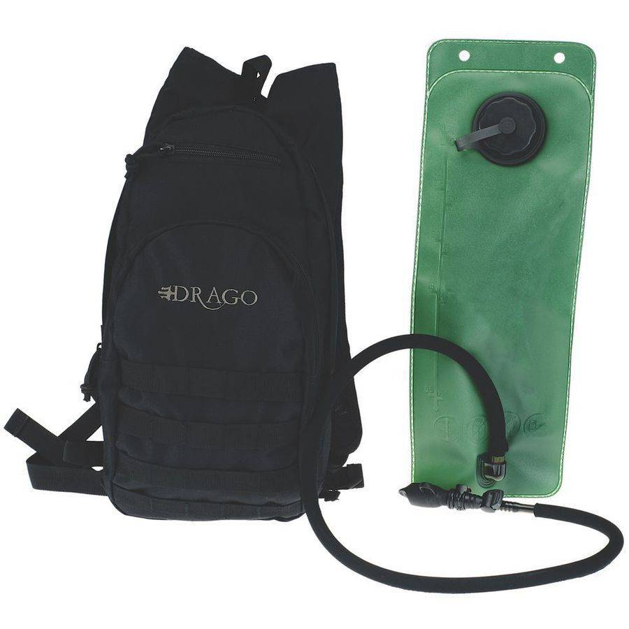 Drago Gear 11301BL Hydration Pack, 600D Polyester, Black by DRAGO