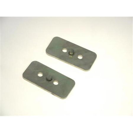 Axle Off-Set Plates, Pair, 2 In. Wide Leaf - Axle Tie Plate