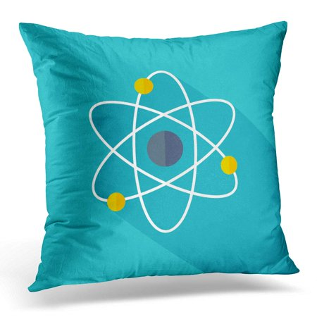 Atomic Symbol (ECCOT Energy Atomic Model Flat Design Symbol Pillowcase Pillow Cover Cushion Case 18x18 inch)