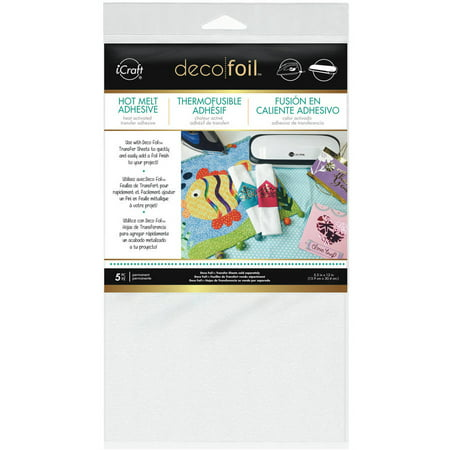 - Deco Foil Iron-On Adhesive Transfer Sheet, 5.5