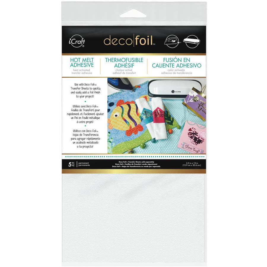 "Deco Foil Iron-On Adhesive Transfer Sheet, 5.5"" x 12"", 5pk"