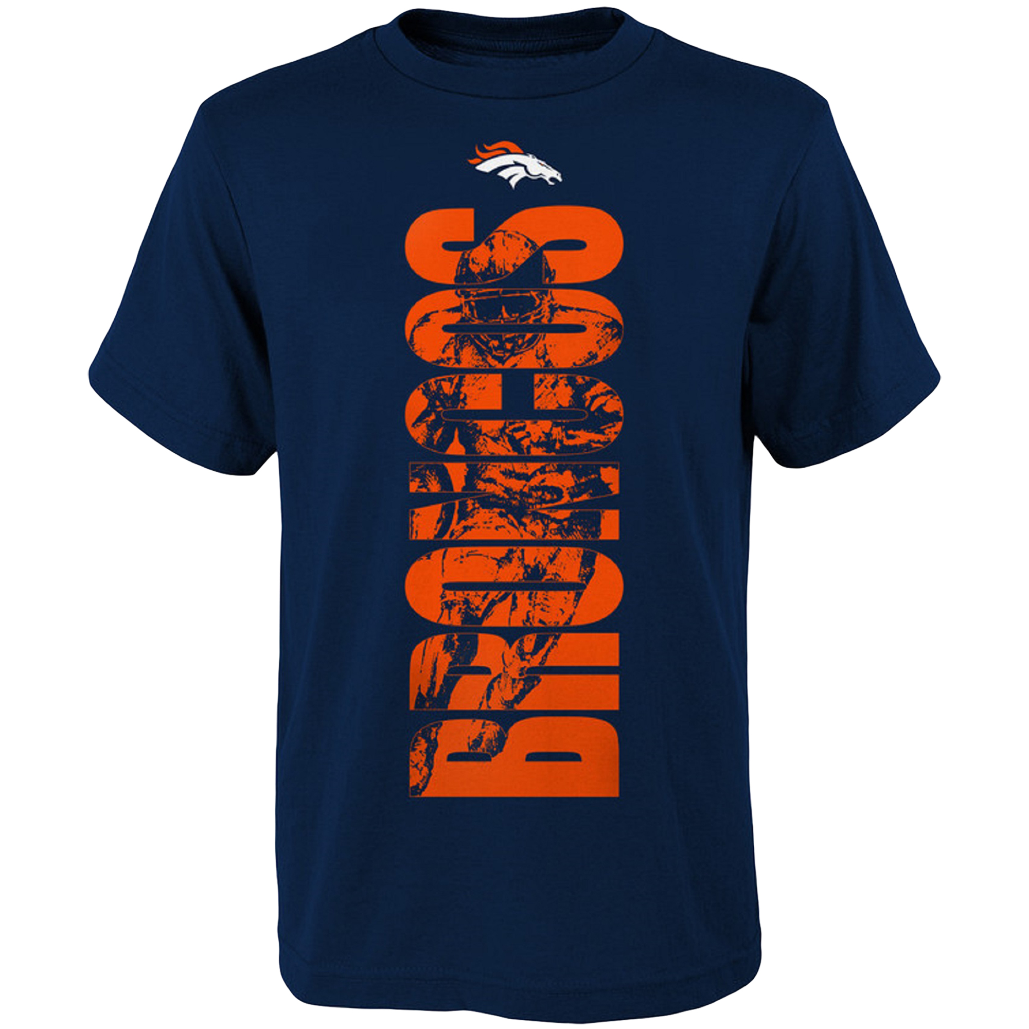 Youth Navy Denver Broncos Side T-Shirt