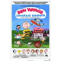 Pop Culture Graphics MOVCF4425 Bon Voyage Charlie Brown Movie Poster Print, 27 x 40