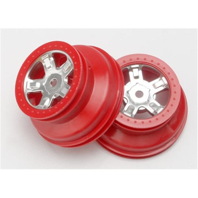 Traxxas TRA7072A Wheels SCT Satin Chrome Dual Profile 2 by TRAXXAS