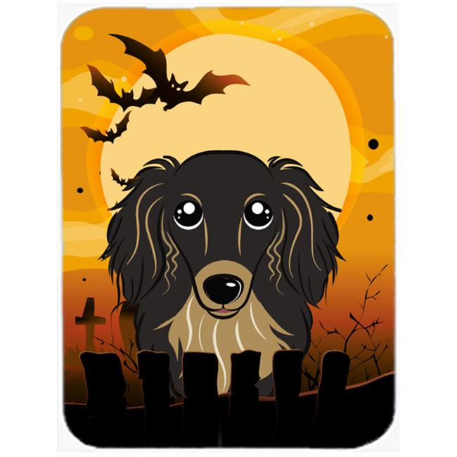 Halloween Longhair Red Dachshund Mouse Pad, Hot Pad & Trivet