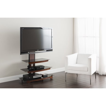 Whalen 3 Tier Cherry Brown Flat Panel TV Stand For TVs Up