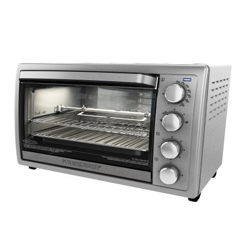 Black & Decker TO4314SSD Rotisserie Convection Countertop Toaster Oven, Silver by Black & Decker