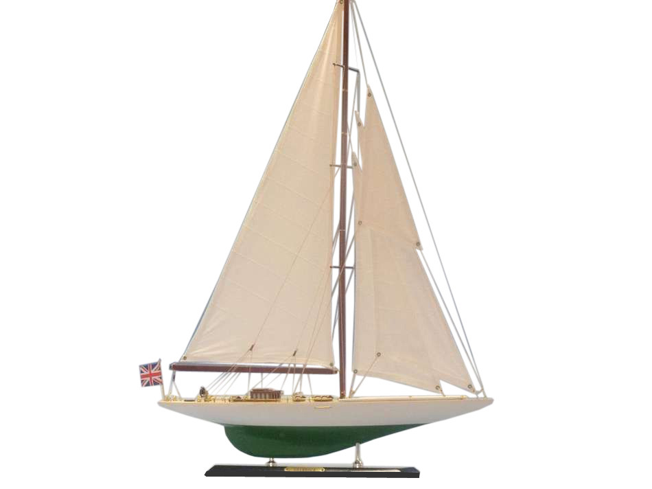 "Shamrock Limited 27"" Wooden Model Sailboat Model Yacht Yacht Model Classic Yacht Model Wood Sailing Boat Nautical Decoration Not a Mod by Handcrafted Nautical Decor"