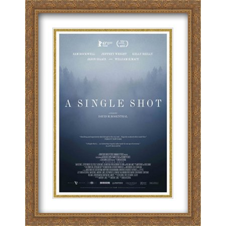 A Single Shot 28x36 Double Matted Large Large Gold Ornate Framed Movie Poster Art Print ()