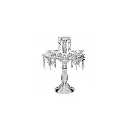 "16"" Wellington 5-Light Hanging Drop Crystal Candelabra Candle Holder Wedding Party Centerpiece by Godinger"