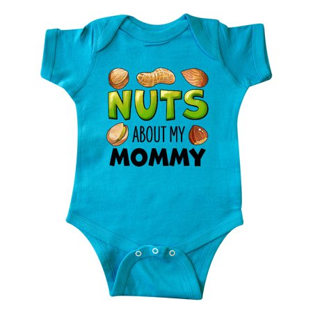 Nuts About My Mommy Peanut, Almond, Pistachio Infant Creeper