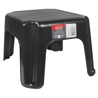 Rubbermaid 1 Step Plastic Step Stool with 200 lb. Load Capacity