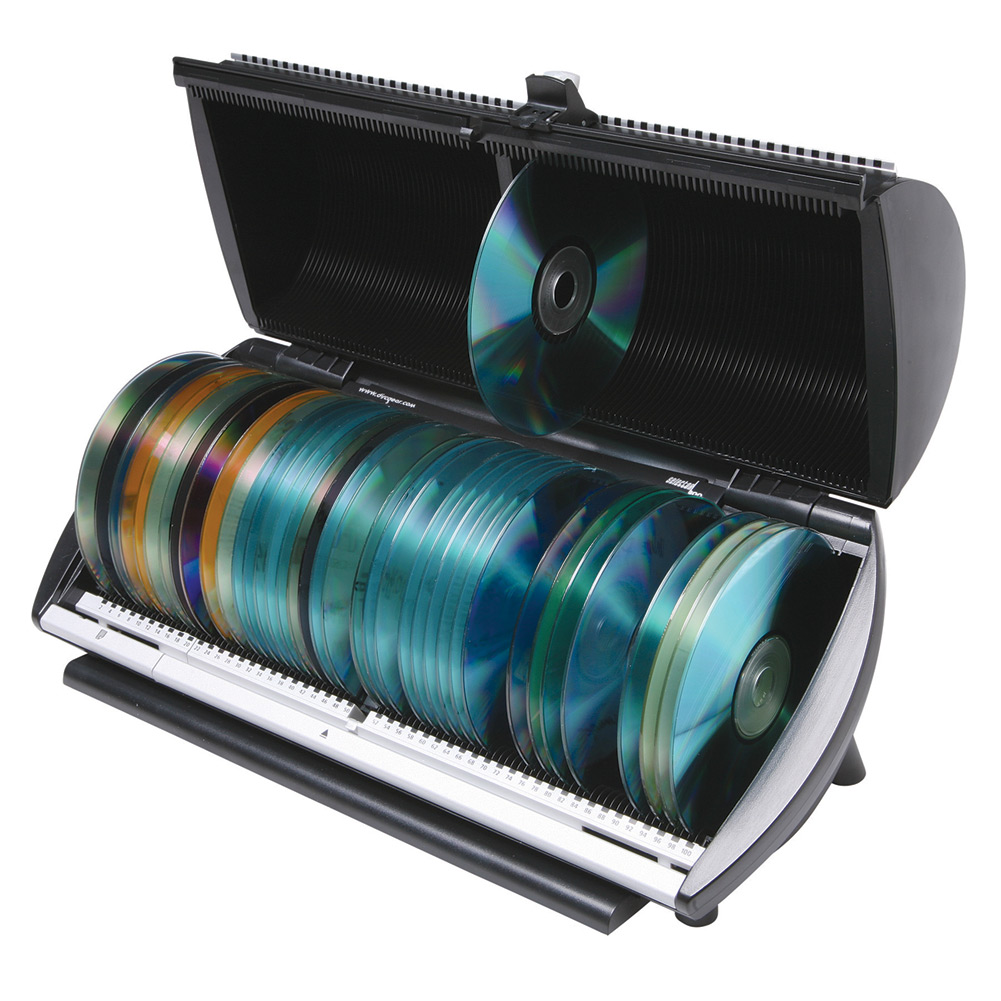 CD or DVD 100 Disc Media Storage Organizer Box