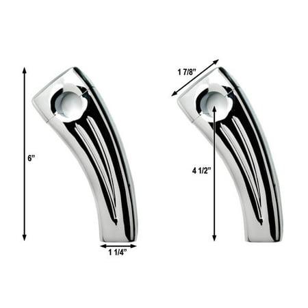 "4.5"" Chrome Bike Handlebar Pullback Risers 7/8"" For Ducati 900 996 916 999 1000 1098 1198 - image 3 de 4"