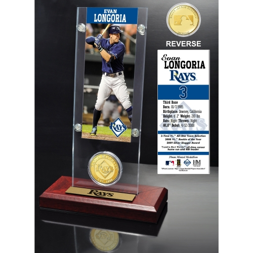 Tampa Bay Rays Evan Longoria 2015 Player Ticket & Coin - No Size