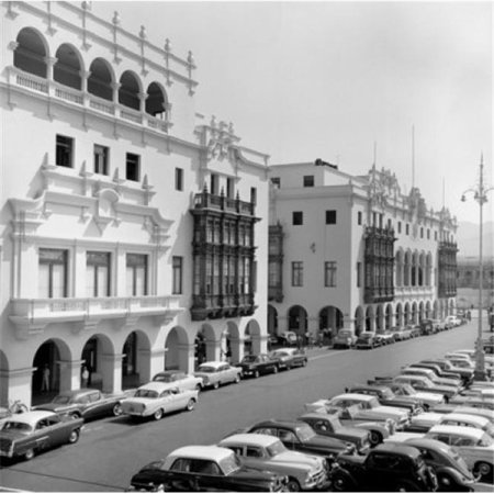 Peru Cars Parked On Street Poster Print, 24 x 36 - Large - image 1 of 1