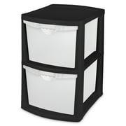 Sterilite 2 Bin Storage System Black