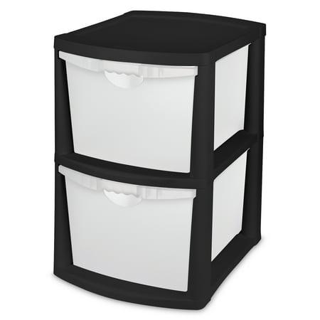 Black Dishwasher Drawer - Sterilite 2 Drawer Unit, Black