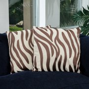Christopher Knight Home 18-inch Tan Zebra Pillows (Set of 2) by