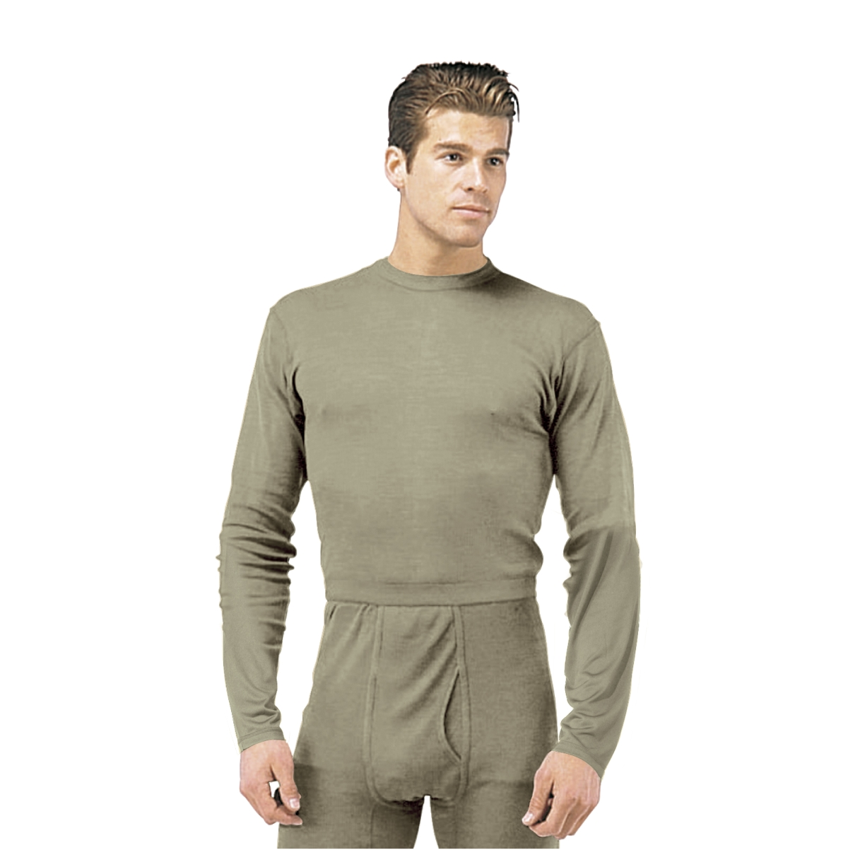 Silk Weight Thermal Underwear Shirt, Foliage Mens - Walmart.com