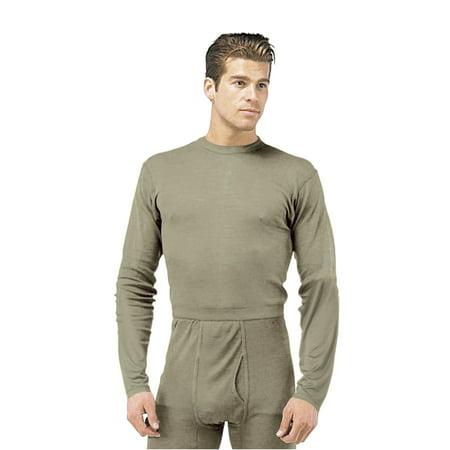 Silk Weight Thermal Underwear Shirt, Foliage Mens - Walmart.com