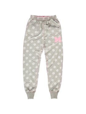 Michigan Wolverines Wes & Willy Girls Youth Polka Dot Cuffed Pants - Heather Gray
