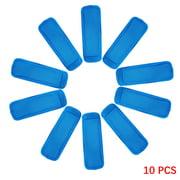 10pcs Reusable Ice Pop Sleeve Holder Portable Neoprene Ice Pop Pouch Freezer Bag Cover, Sapphire