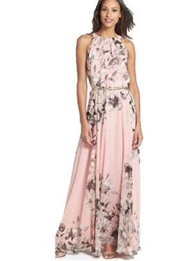 65dd633f3f Product Image Women Boho Floral Print Long Chiffon Dress Sleeveless Skirts  Summer Beach Sun Dress Gown Casual Plus