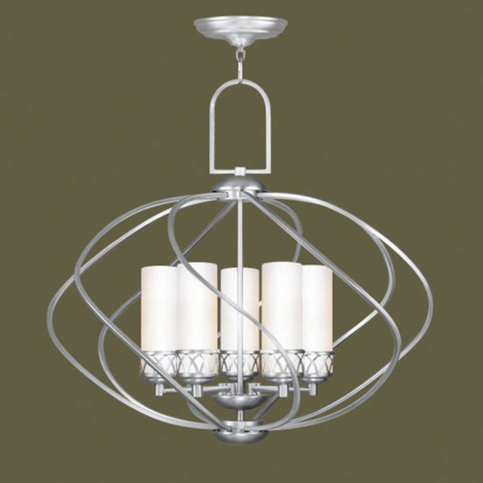 Livex Westfield 4725-91 Chandelier - Brushed Nickel - 26W in.