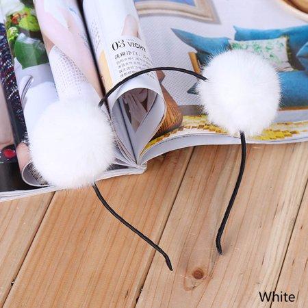 Fancyleo 3 Pcs  Hair Ball Hair Hoop Cat Ear Headband for Kids Girls](Gray Cat Ears)