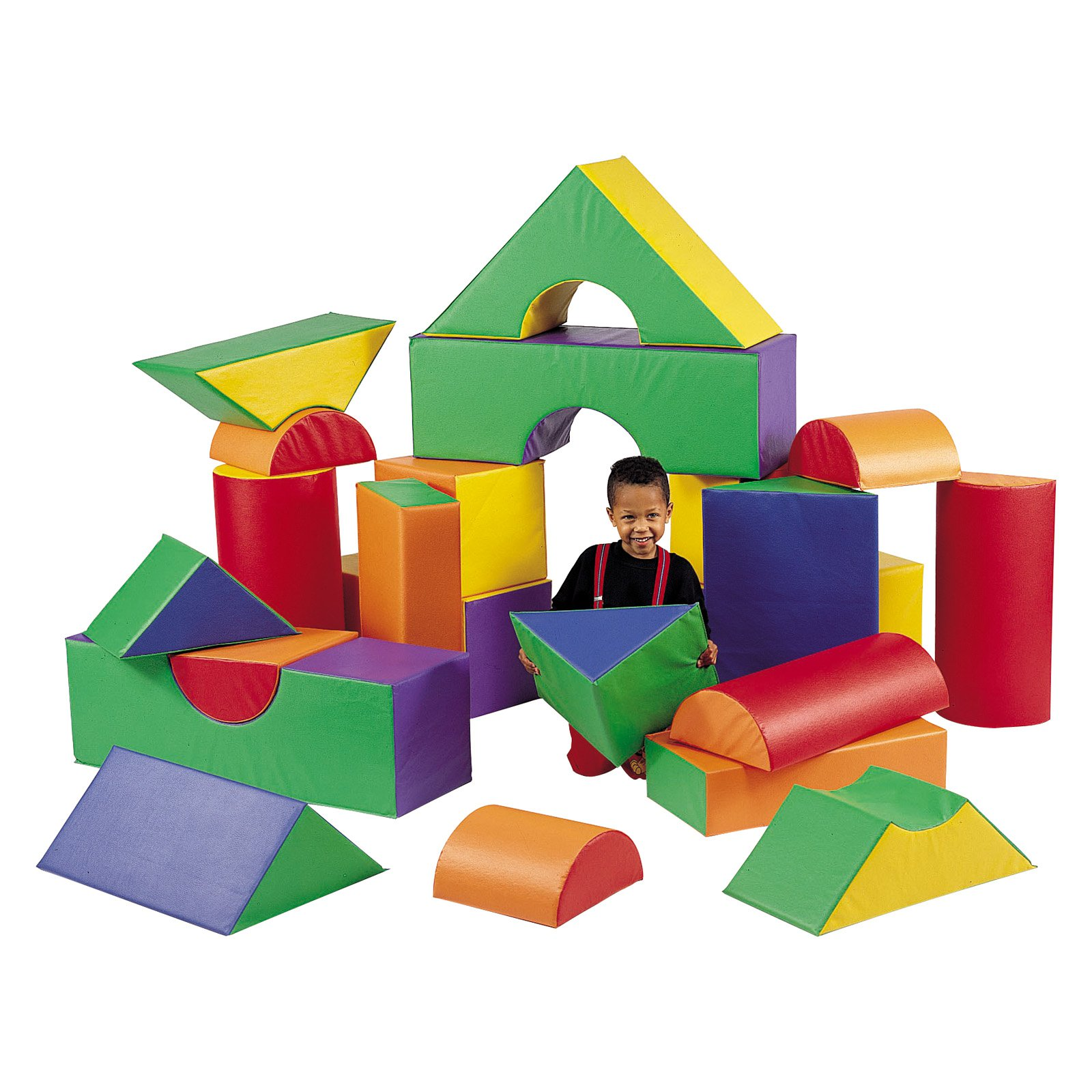 Children's Factory 21 Piece Module Soft Play Block Set