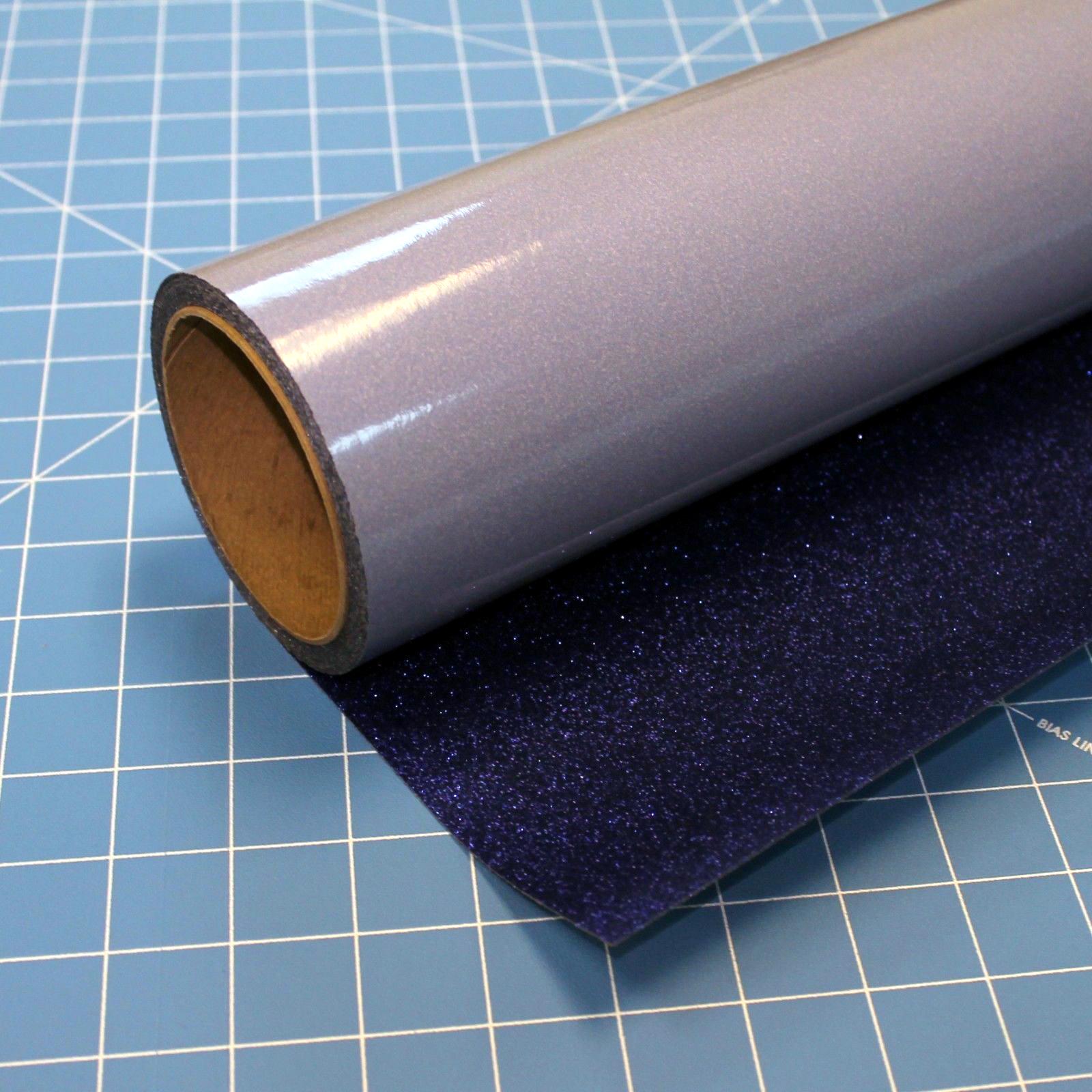"Royal Blue Glitterflex Ultra 19.5"" x 3' Roll Glitter, Heat Transfer Vinyl, HTV"